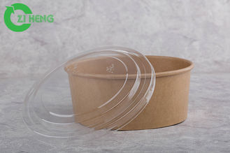 Microwave Safe Disposable Paper Bowls With Lids 1000ml Eco Friendly EU Approval