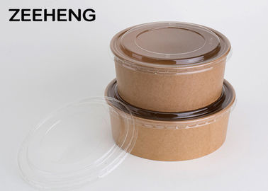 Compostable Deep Disposable Pla Coating Mini Paper Bowls With Lids , No Deformation